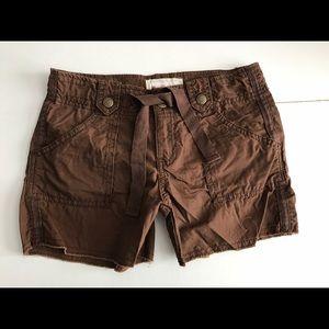 👖 GAP Kids brown cotton utility shorts NEW
